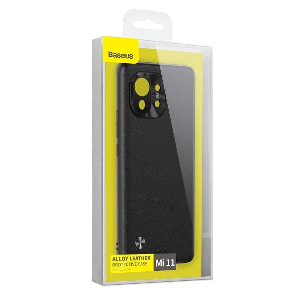 Baseus Xiaomi Mi 11 case Alloy Leather Protective Black