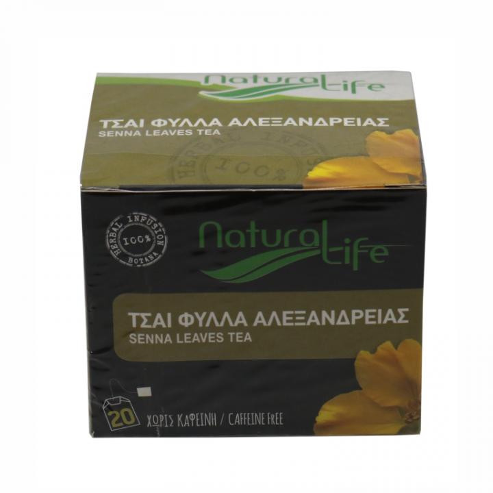 NATURAL LIFE SENNA LEAVES TEA 20 tea bags