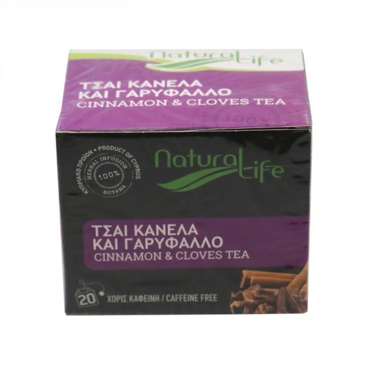 NATURAL LIFE CINNAMON & CLOVES TEA 20 tea bags
