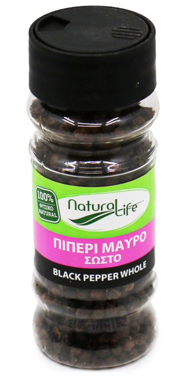 NATURAL LIFE BLACK PEPPER WHOLE 55g
