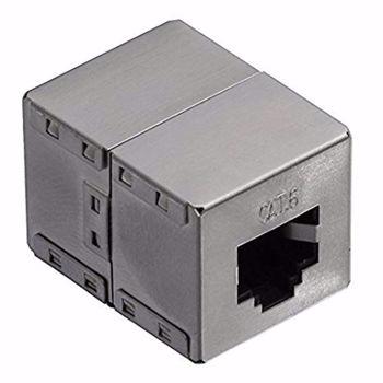 LogiLink® Inline Coupler 1:1 Cat.6 RJ45 STP, metal housing NP0054