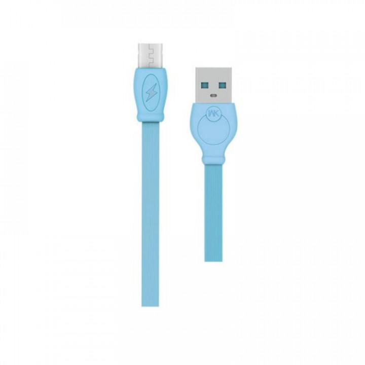 WK Fast 3000mm Lightning USB Data Cable blue