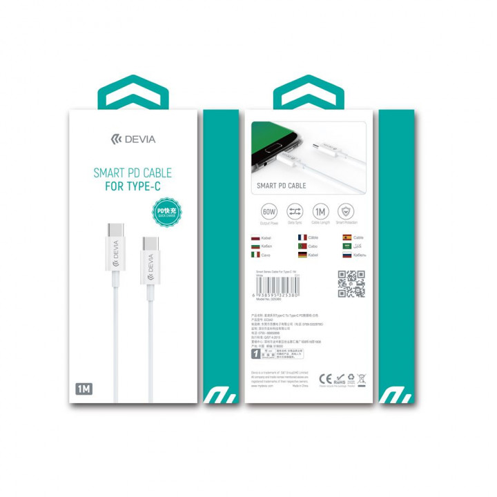 DEVIA Smart Series PD Cable Type-C to TYPE-C