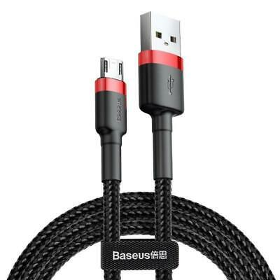 Baseus 2m 1.5A USB to Micro USB Cafule Double-sided Insertion -  Data Sync Charge Cable (Red Black)