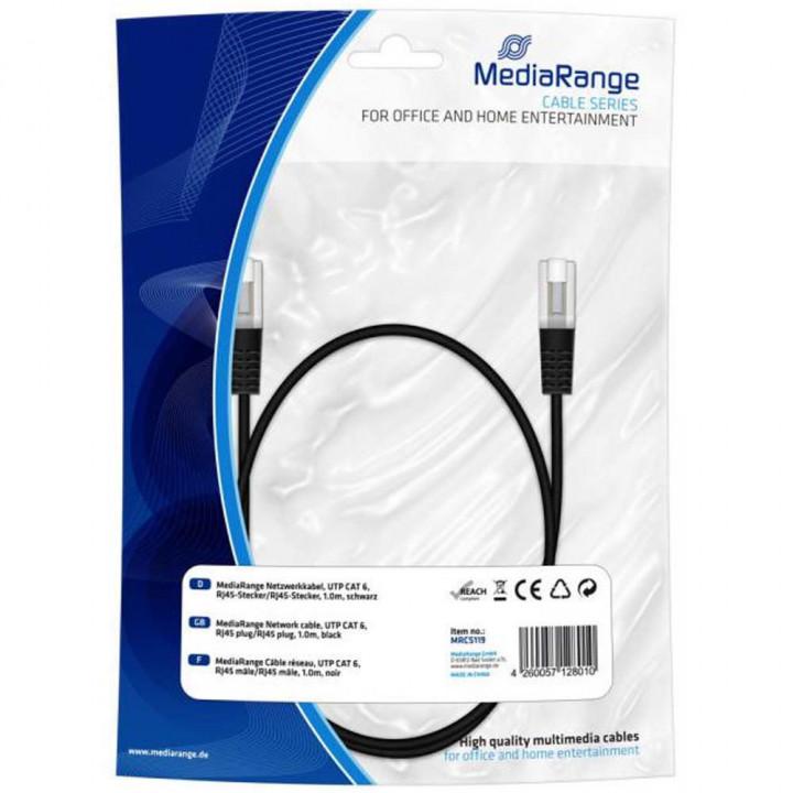 Καλώδιο Network UTP cable cat 6 RJ45/RJ45 MediaRange 1m