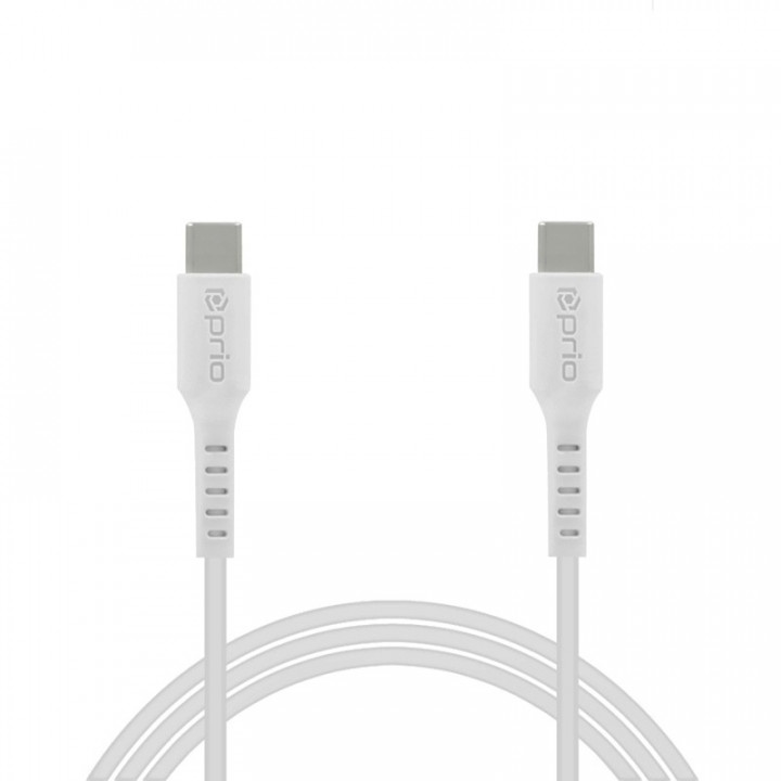 Prio High-Speed Charge & Sync USB-C to USB-C Cable 5A 1.2m_x000D_ white
