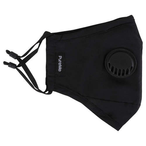 PureMe Reusable / Adjustable N95 Mask Black
