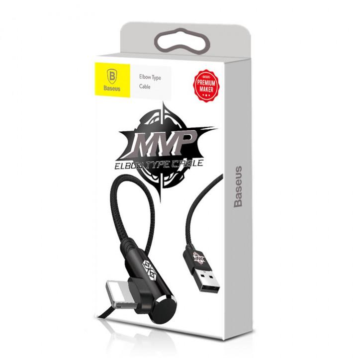 Baseus Lightning MVP Elbow Type Lightning Cable USB 2A 1m Black