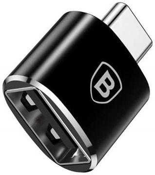 Baseus Converter USB Female To Type-C Male Black