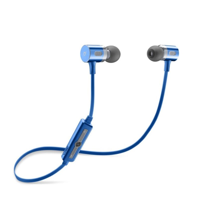 Cellularline Magnetic Motion In-Ear Bluetooth Stereo Earphones Blue