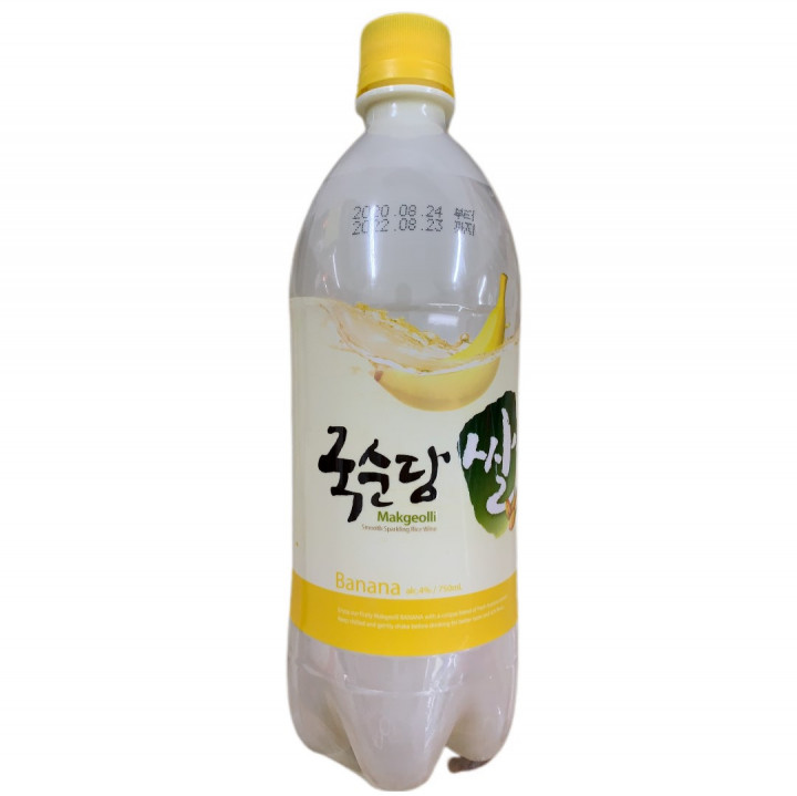 KOREA RICE WINE BANANA 4%Vol 750ML