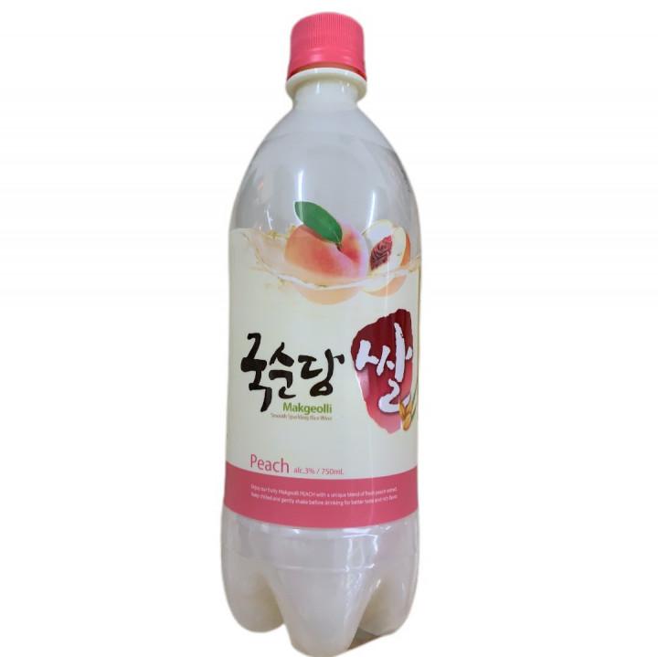 KOREA RICE WINE PEACH 3% Vol 750ml