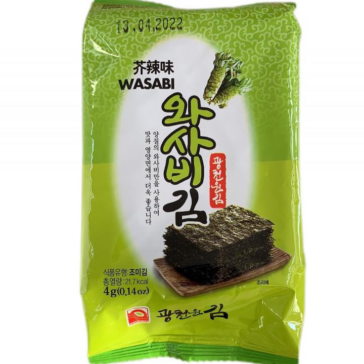 KOREAN SEASONED LAVER / WASABI / 4 G