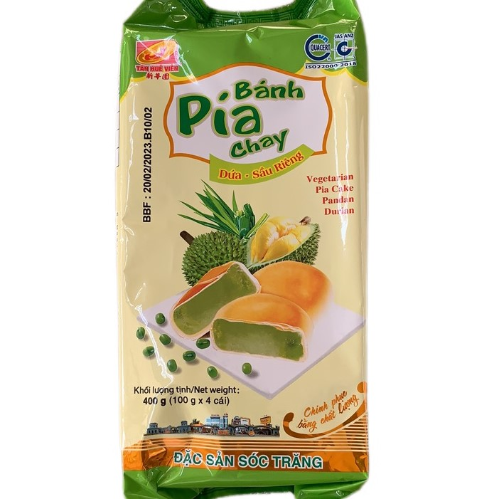 XHY PIA CAKE / VEGETARIAN / PANDA DURIAN / 100G*4