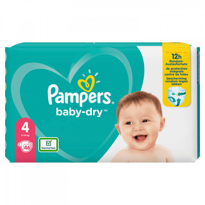 PAMPERS BABYDRY NO.4  914KG 46 DIAPERS