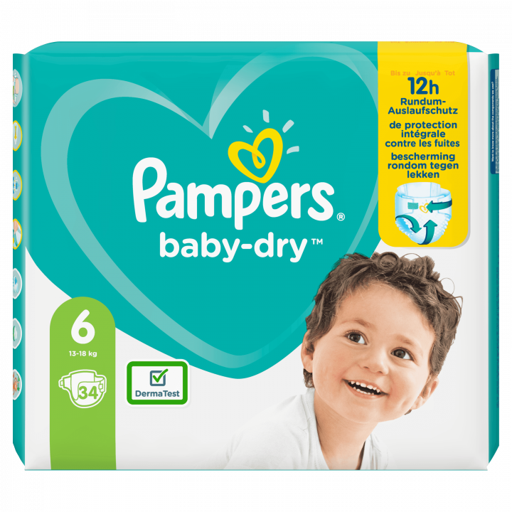 PAMPERS BABYDRY NO.6 34 DIAPERS