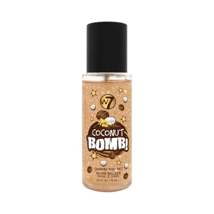 W7 SHIMMER BODY MIST - COCONUT BOMB 75ML