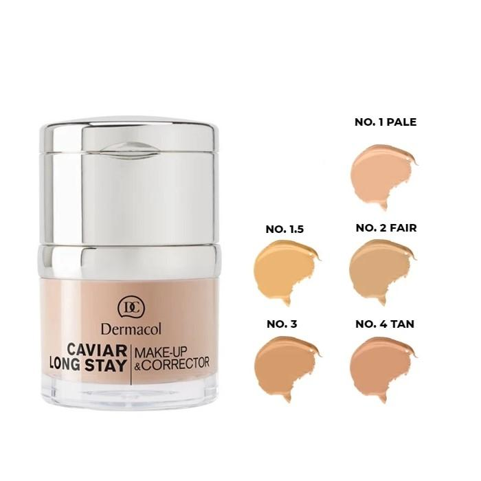 DERMACOL CAVIAR LONG STAY MAKE - UP & CORRECTOR  NO. 1 - PALE