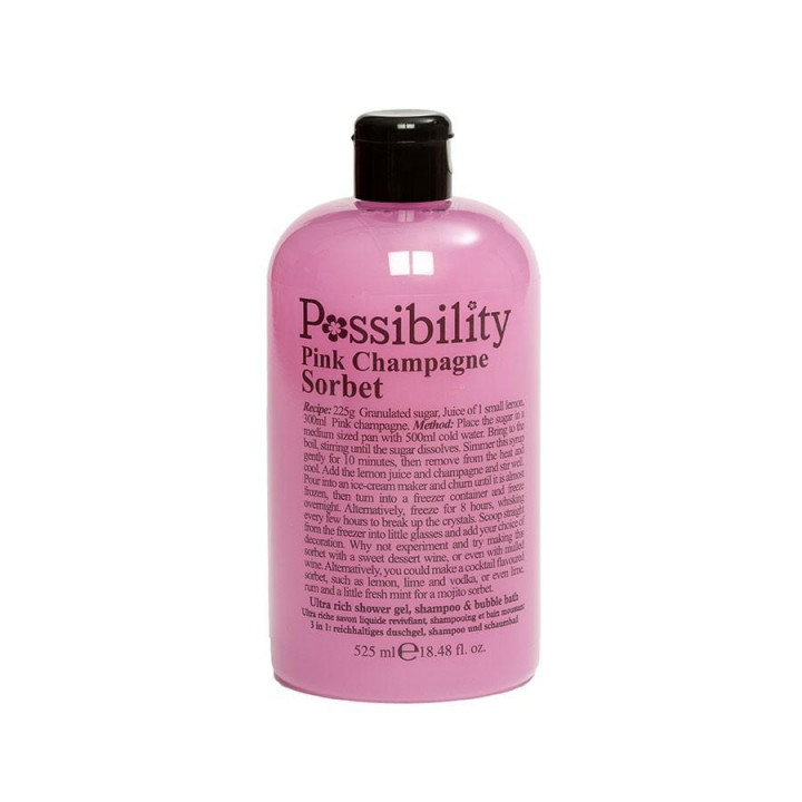 POSSIBILITY PINK CHAMPAGNE SORBET 3 IN 1 SHOWER GEL 525ML