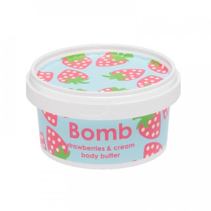 BOMB COSMETICS STRAWBERRY & CREAM BODY BUTTER