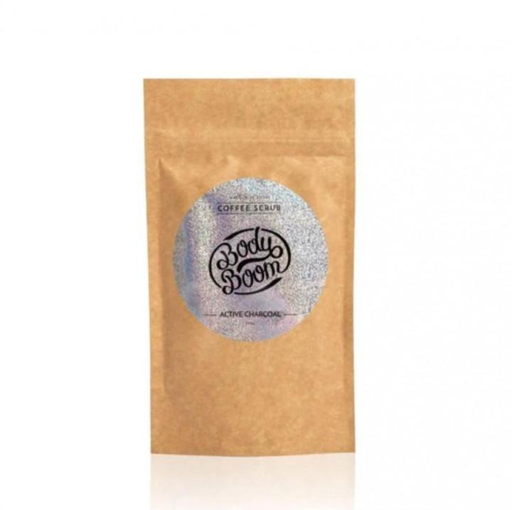 BODY BOOM COFFEE SCRUB ACTIVE CHARCOAL 100G