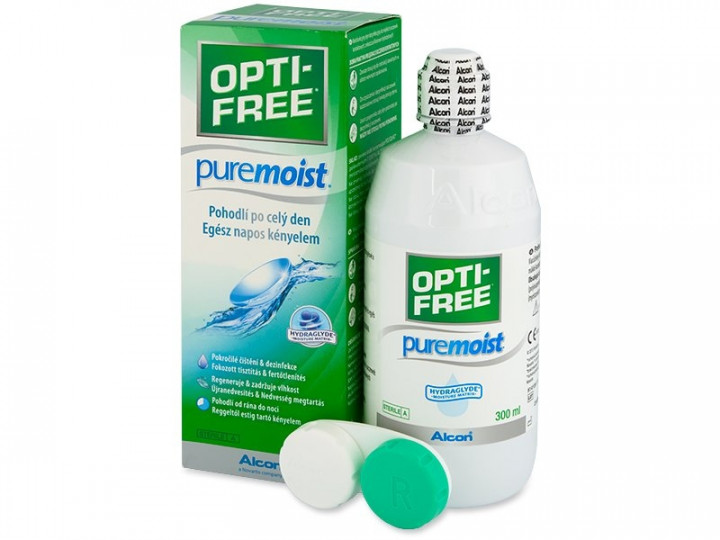 optifree pure moist 300ml one bottle contact lense solution