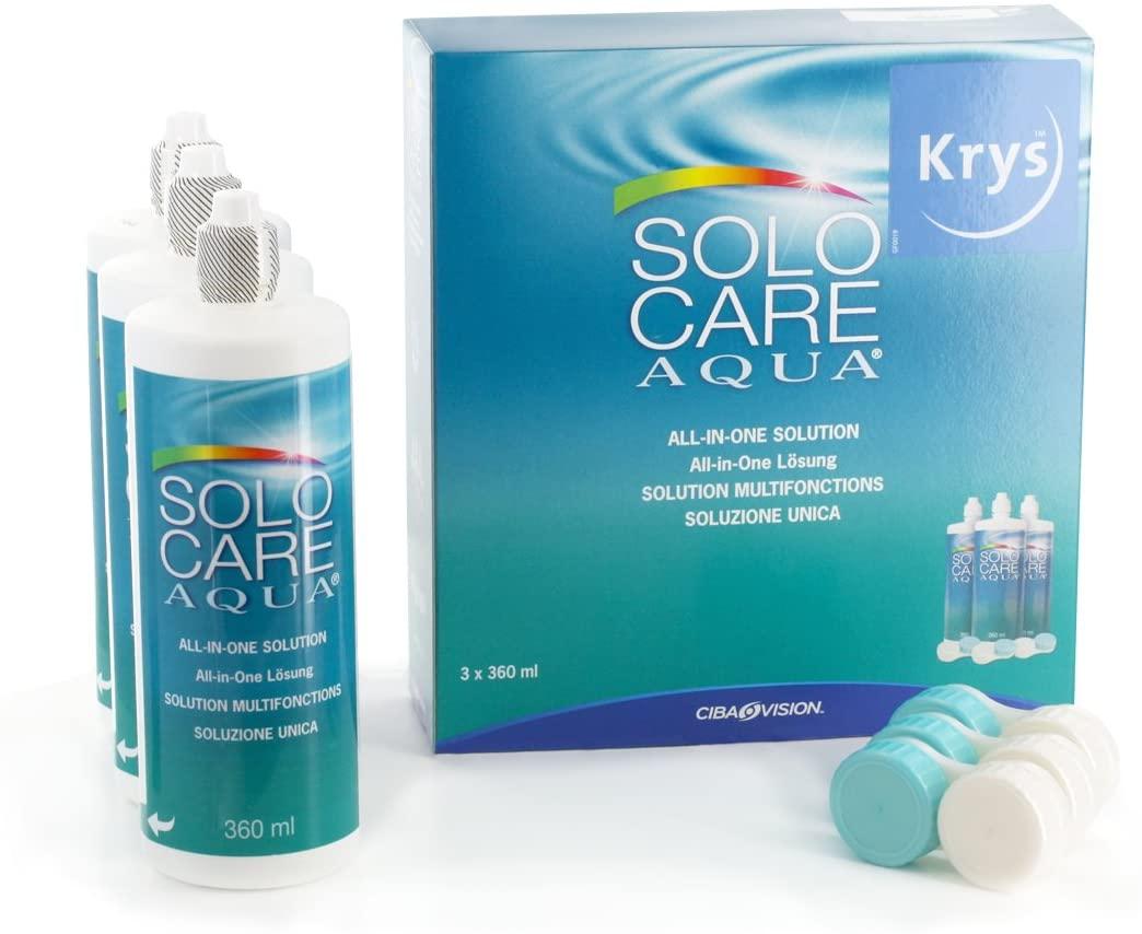 solo care aqua 360ml one bottle contact lenses solution