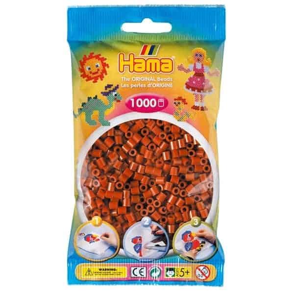 Hama bag of 1000 - Reddish Brown