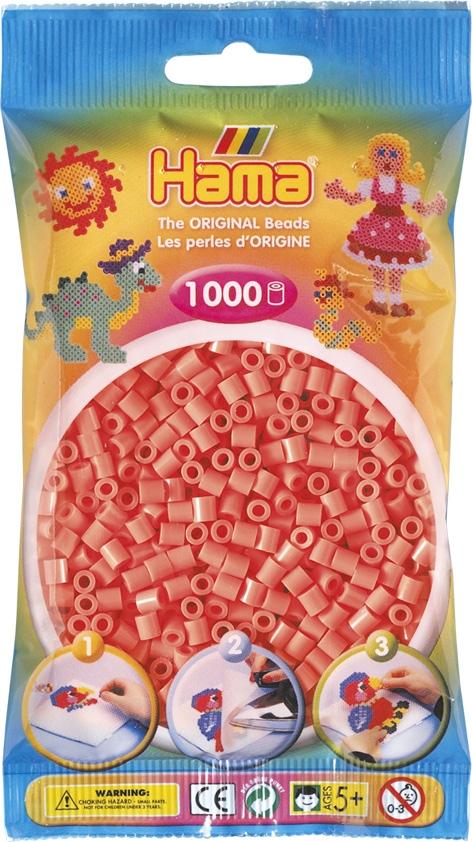Hama bag of 1000 - Pastel Red