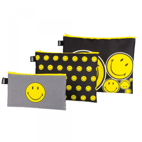 L SMILEY ZIP POCKETS