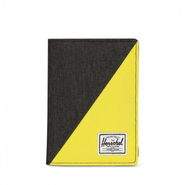RAYNOR PASSPORT HOLDER BLACK/EVENING PRIMROS