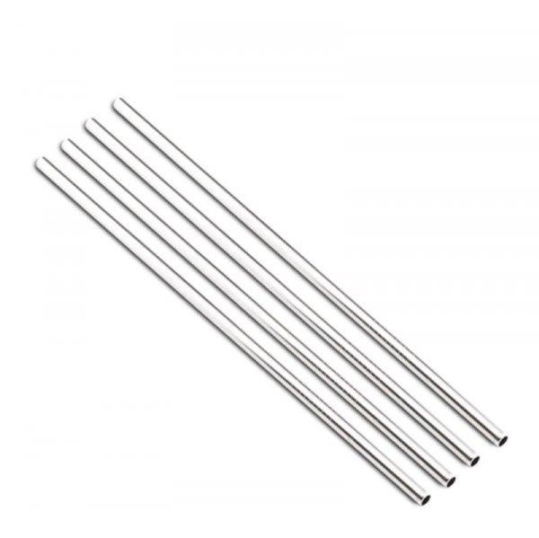 STAINLESS STEEL STRAWS X4