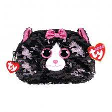 TY SEQUIN SMALL BAG CAT GREY KIKI