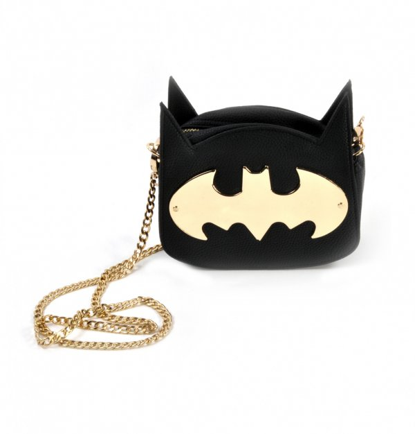 UW LADIES BATMAN GOTHAM GOLD CROSS BODY BAG