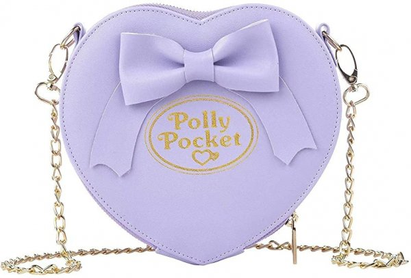 UW POLLY POCKET PURPLE BOW CROSS BODY BAG