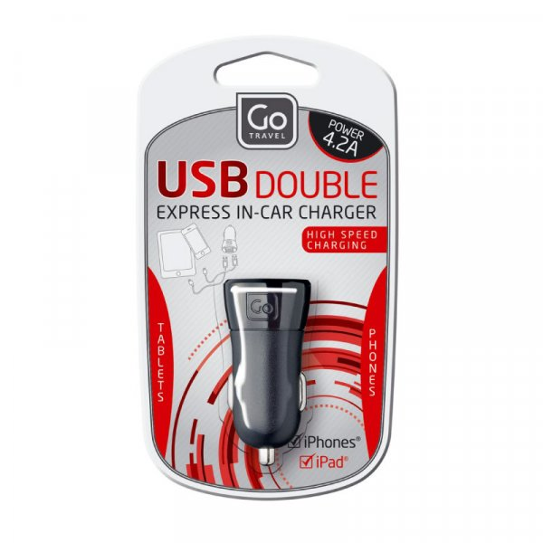 GT USB IN-CAR CHARGER (4.2A)