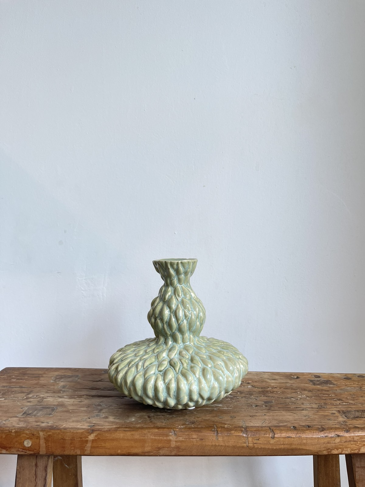 Vase with relief Green