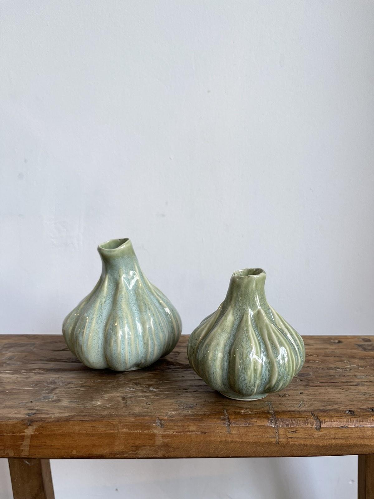 Garlic vase green Small