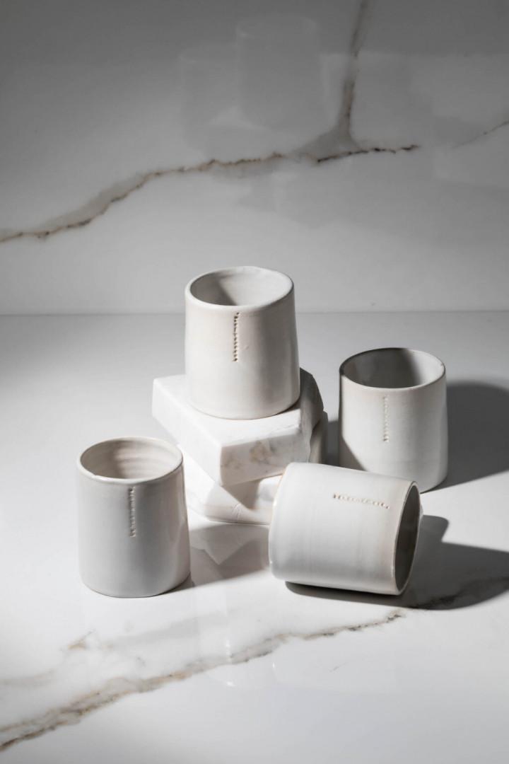 ESPRESSO CUP / WHITE / CERAMIC / SET OF 4