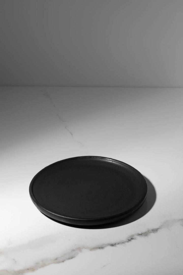 PLATE / BLACK / CERAMIC / S / SET OF 4
