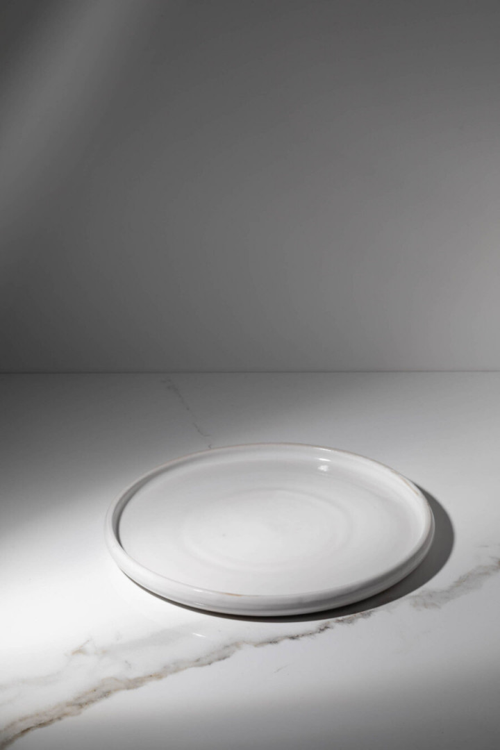 PLATE / WHITE / CERAMIC / L / SET OF 4