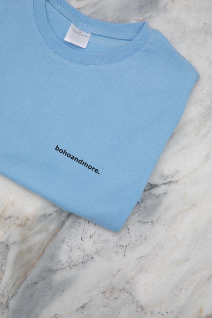 BOHOANDMORE T-SHIRT / LIGHT BLUE L