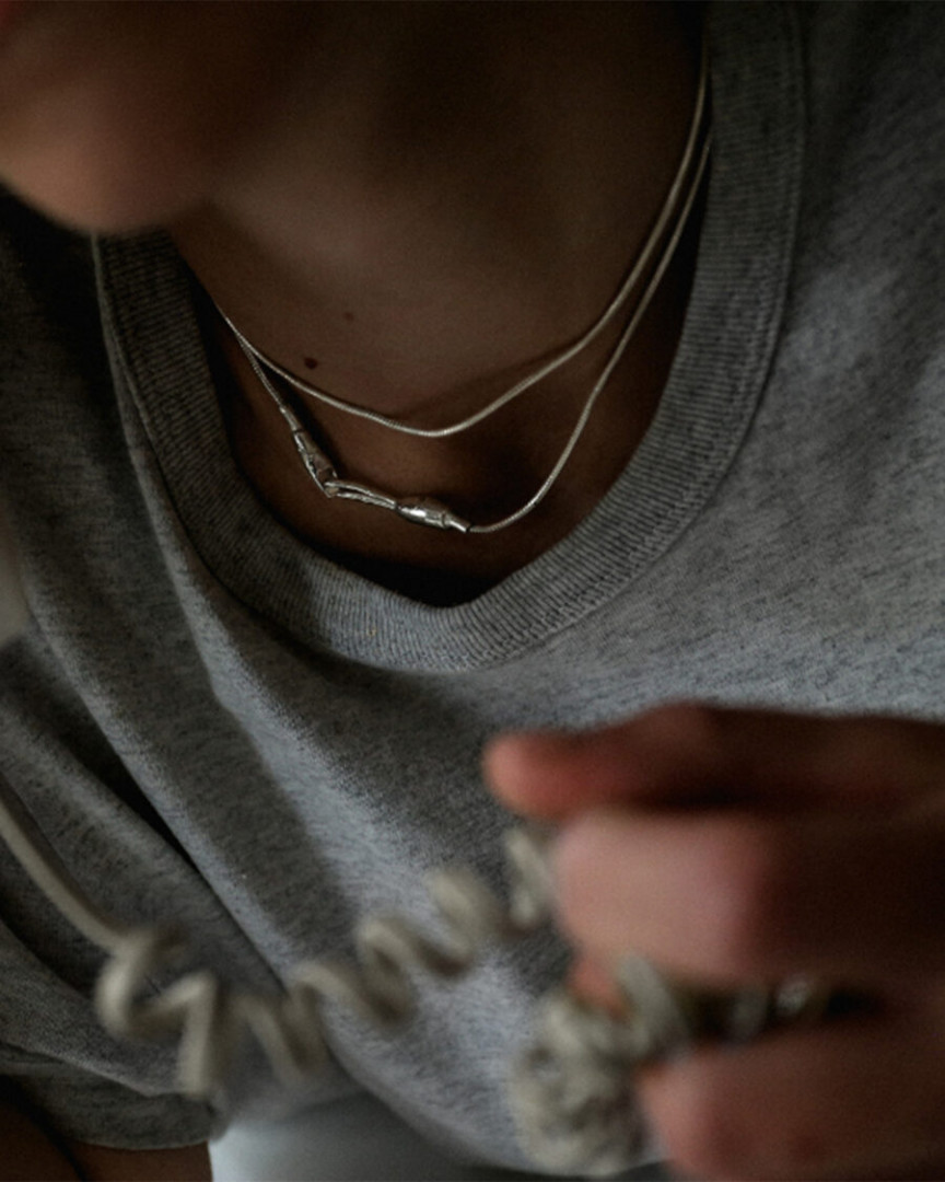 DOUBLE CHAIN NECKLACE NA111