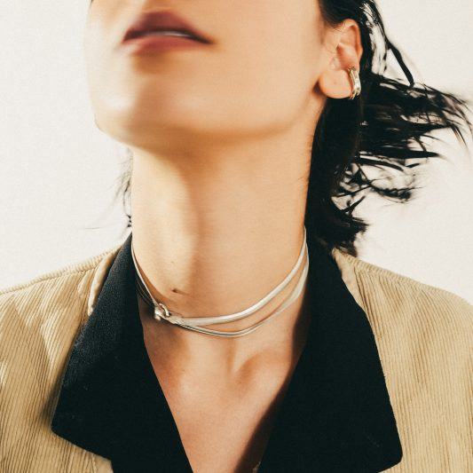 NA125 FLAT SNAKE CHAIN NECKLACE
