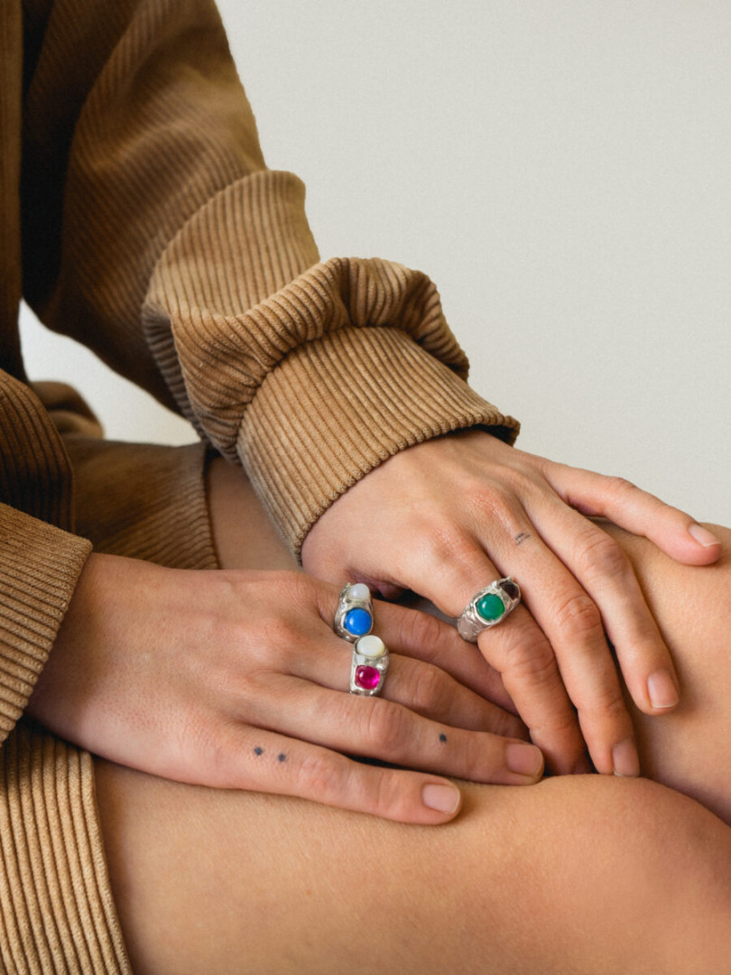 NA136 DOUBLE GEM RING