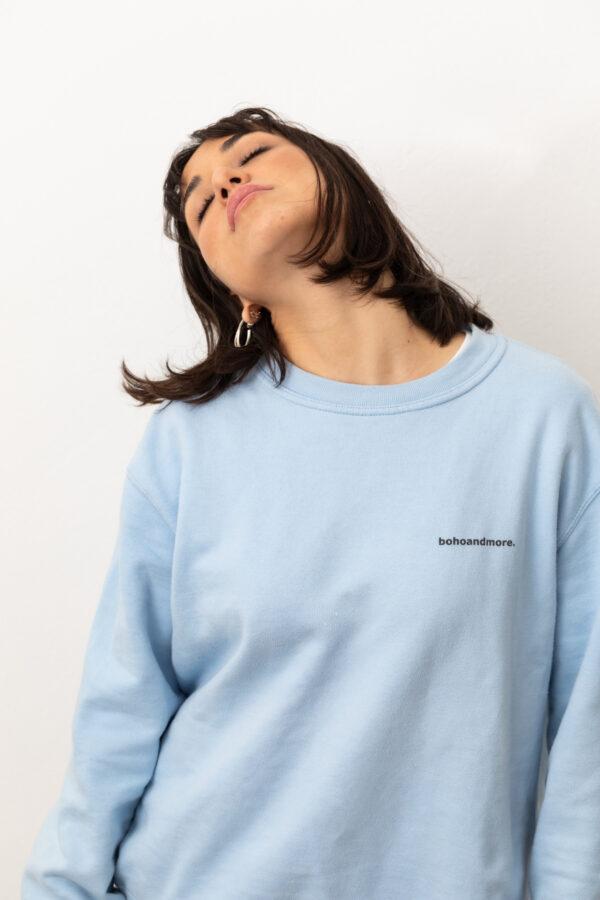 BOHOANDMORE SWEATSHIRT / LIGHT BLUE XS