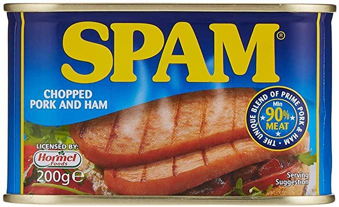 Spam Chopped Pork & Ham 90% meat 200g