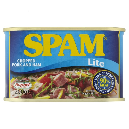 Spam Chopped Pork & Ham Lite 90% Meta 200g