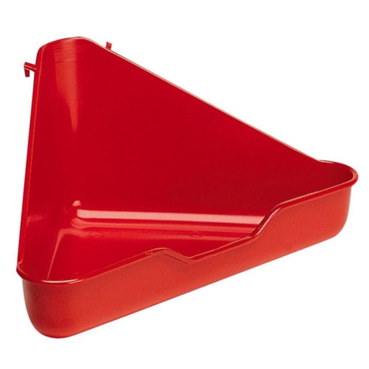 Ferplast L370 Corner Toilet For Small Animals Mixed Colours 27x27x17cm
