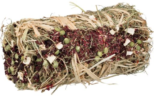 Trixie Hay bale with beet root and parsnip
